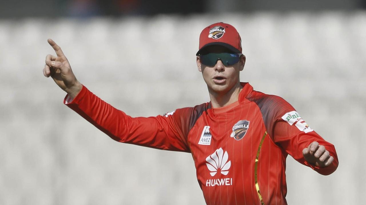 Steve Smith in action in the Bangladesh Premier League T20 competition.