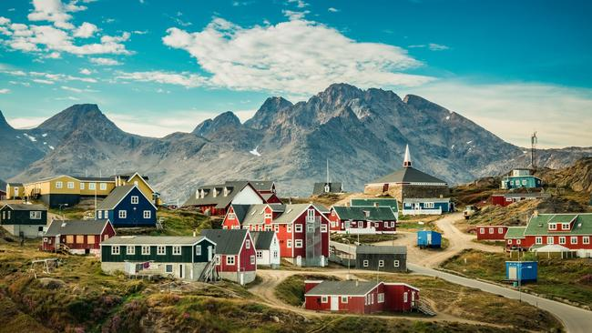 The colours help locals know what is inside each building. Picture: istock