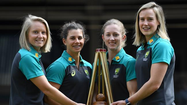 Rachael Haynes (second right) will captain Australia in the upcoming Ashes.
