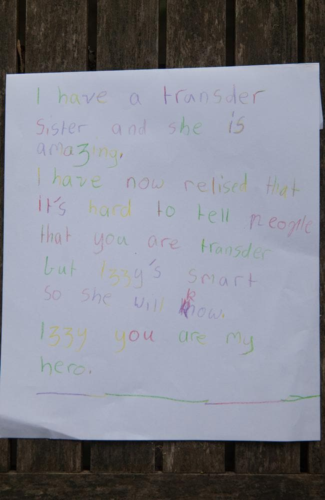 A letter written by Hattie to her sister Isabelle. Picture: Rick Liston / news.com.au