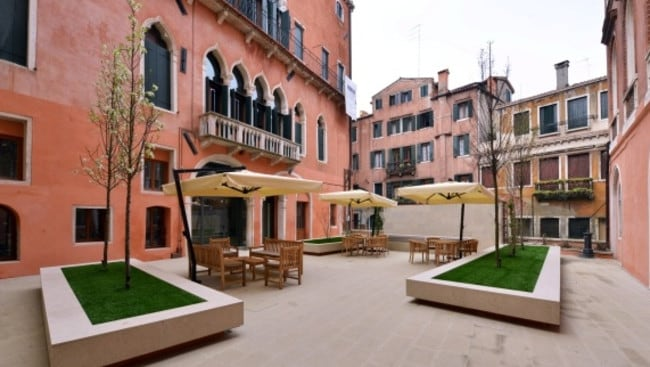 The apartment has a courtyard areas as well. Picture: Sotheby's International Realty.