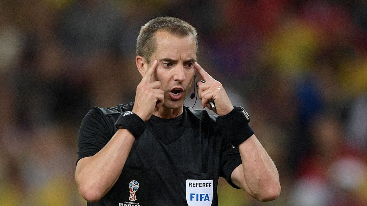 US referee Mark Geiger officiated the match between England and Colombia.
