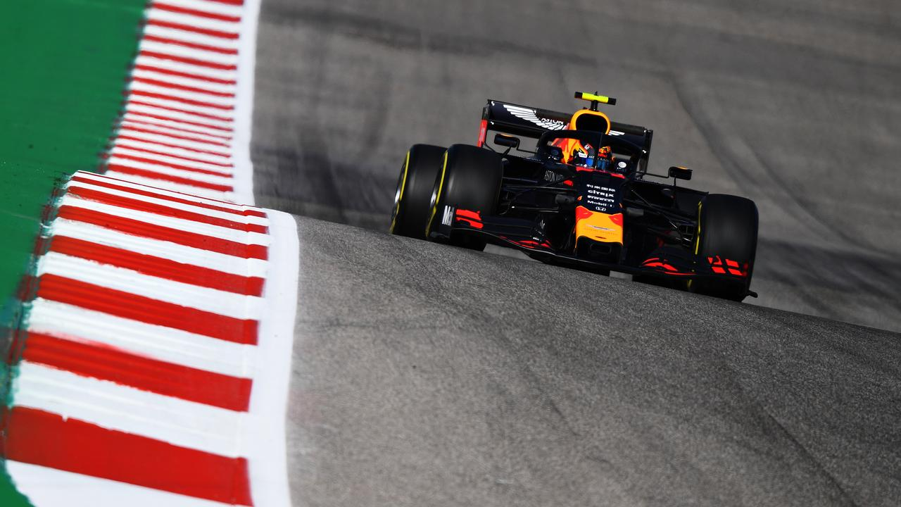 Albon on track at Circuit of The Americas earlier this month. Picture: Clive Mason