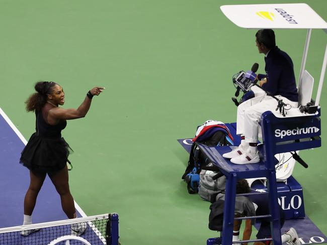 Serena Williams was not happy with chair umpire Carlos Ramos.