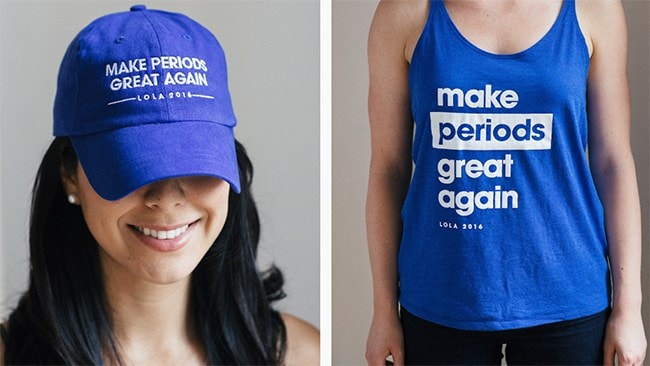Lola's Make Periods Great Again campaign