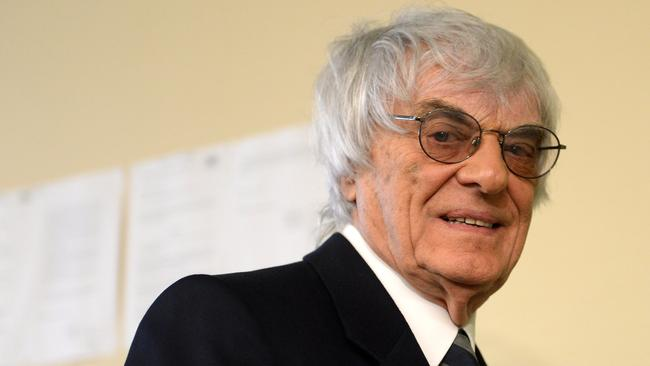 Formula One boss Bernie Ecclestone on the third day of his bribery trial in Munich, southern Germany.