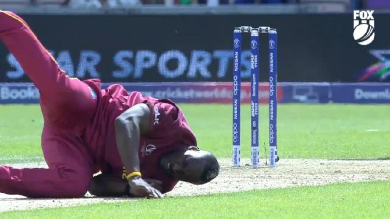 Andre Russell limps off