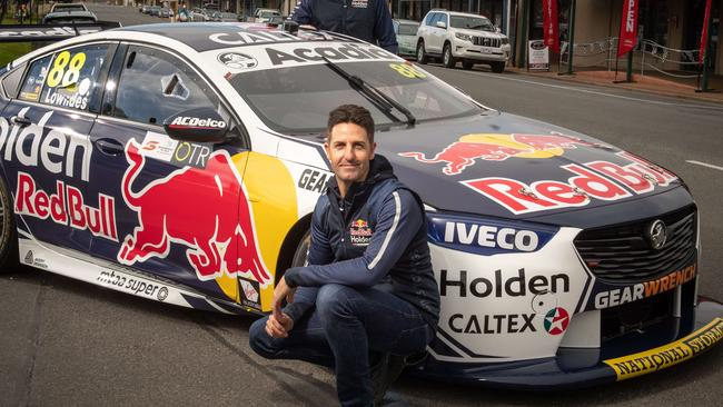 Jamie Whincup copped a 15-second time penalty by stewards for spinning Nick Percat's car early in race one. Picture: Brad Fleet