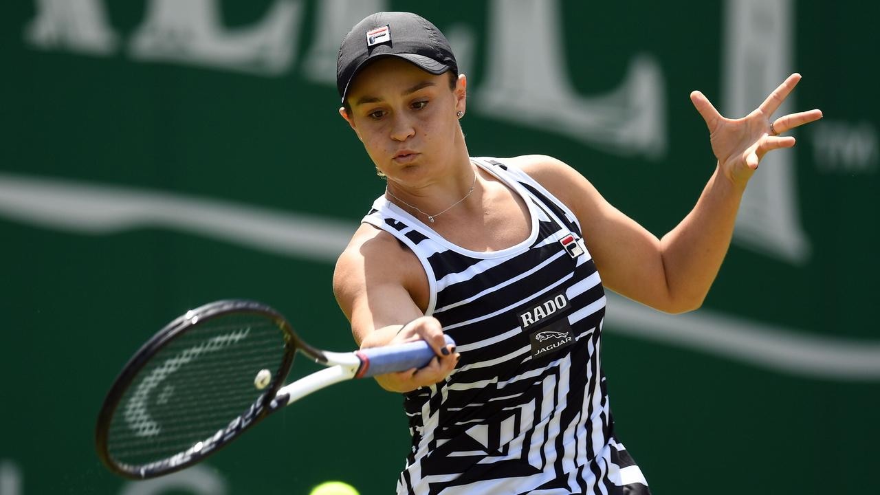 Australia's Ashleigh Barty has picked up an arm injury.