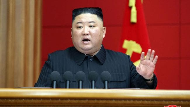 Kim Jong-un has sent his first challenge to the Biden administration. Picture: STR/KCNA via KNS/AFP