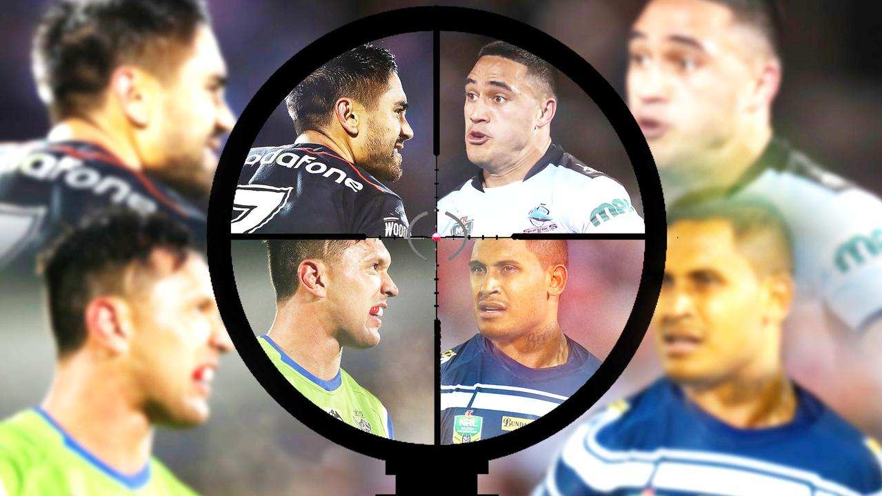 Shaun Johnson, Jordan Rapana, Ben Barba and Valentine Holmes.