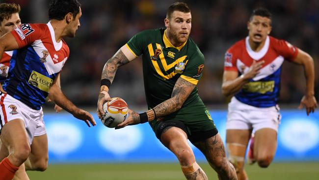 Fullback Josh Dugan has found a home in the Kangaroos' centres.