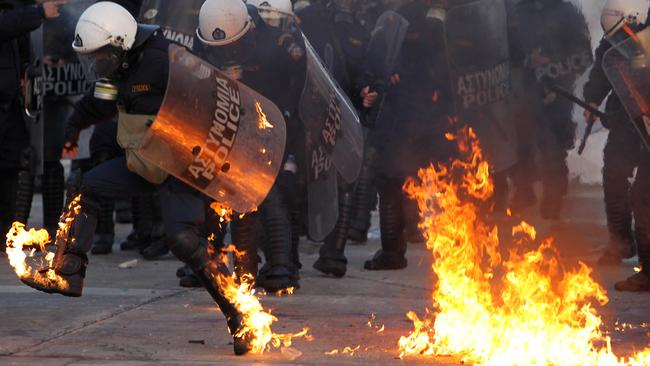 Greece went through this in 2012. Picture: Thanassis Stavrakis/AP