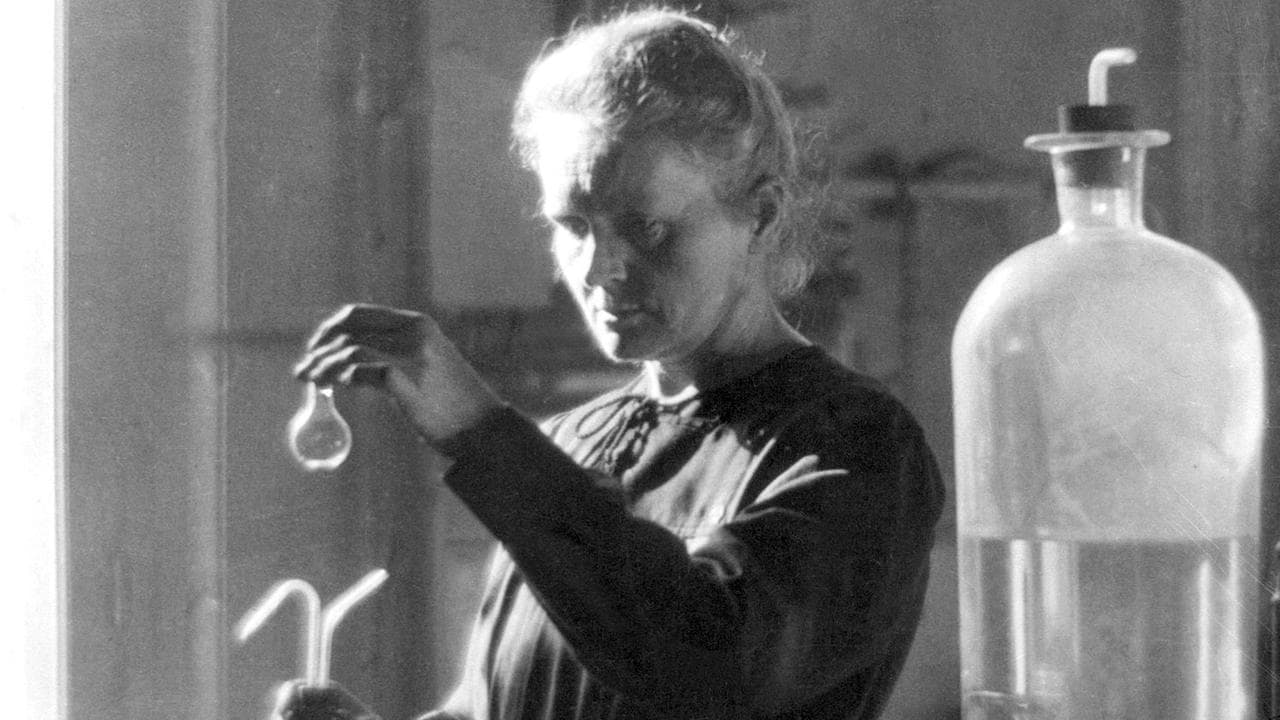 Marie Curie in a science laboratory at the University of Paris in 1925.