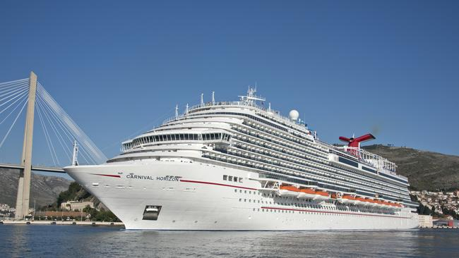 The Carnival Horizon cruise ship was returning from a six-day trip to the Caribbean.