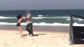 Police are hunting for witnesses who saw this altercation at Bribie Beach.