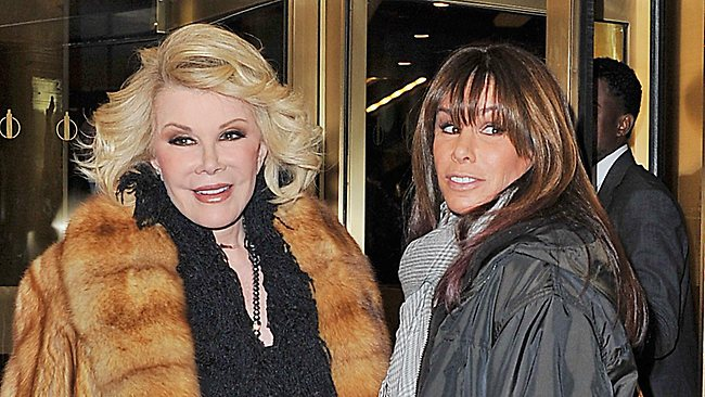 Joan and her daughter Melissa Rivers. Picture: Splash
