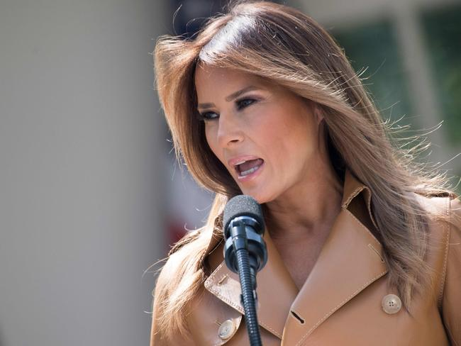 In a surprise move, Melania Trump has publicly disagreed with her husband. Picture: AFP