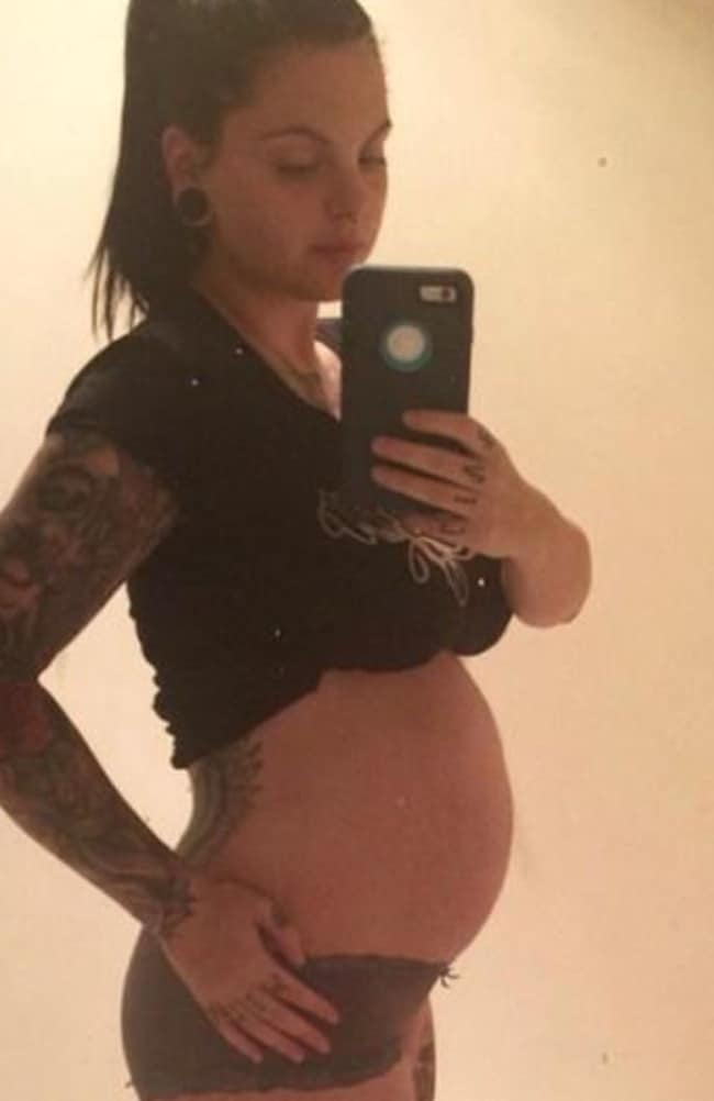 Amy at 35 weeks pregnant. Source: Amy Louise