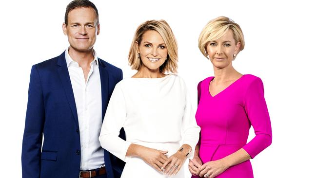 The new hosts of TODAY: Tom Steinfort, Georgie Gardner and Deb Knight.