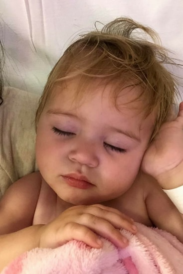 The toddler got worse throughout the evening and began struggling to breathe. Image: Supplied