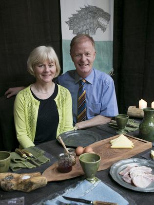 Peter and Caroline McErlean, owners of the Cuan Inn in Strangford, dress their breakfast tables like a Game of Thrones banquet. Picture: Ella Pellegrini
