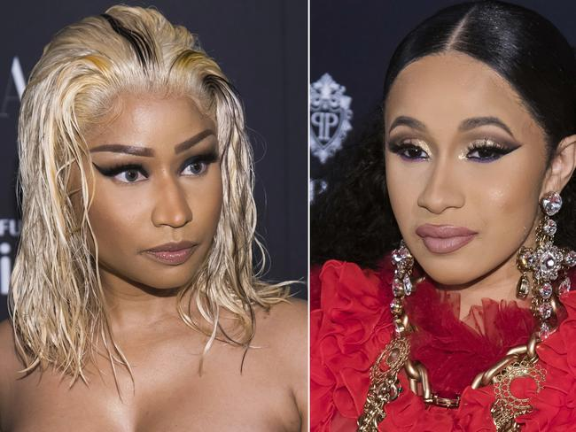 Cardi B and fellow rapper Nicki Minaj have been involved in an ongoing feud. Picture: AP