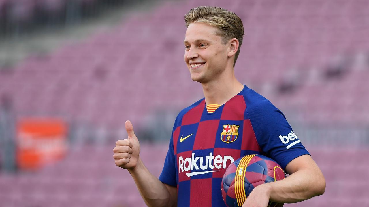 Frenkie de Jong was recent;y unveiled by Barcelona