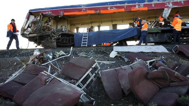 In 2007, 11 people died when a V/Line passenger train was hit by a truck on a level crossing near Kerang, Victoria.
