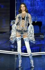 Model Barbara Fialho walks the runway during the 2017 Victoria's Secret Fashion Show In Shanghai at Mercedes-Benz Arena on November 20, 2017 in Shanghai, China. Picture: Frazer Harrison/Getty Images for Victoria's Secret