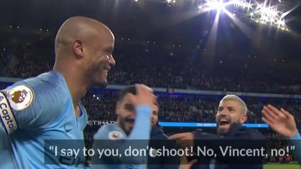 Manchester City vs Leicester: Vincent Kompany goal