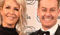Saturday 20 Oct Australian Commercial Radio Awards (ACRAs) Red carpet arrivals.  Grant Denyer with wife Chezzi. Picture: Lawrence Pinder