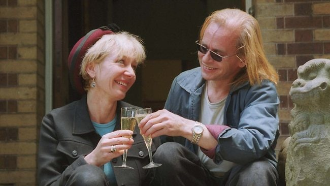 Greg Ham and partner Linda Wostry, celebrate their successful sale of their house. File photo: Warrick Attwood