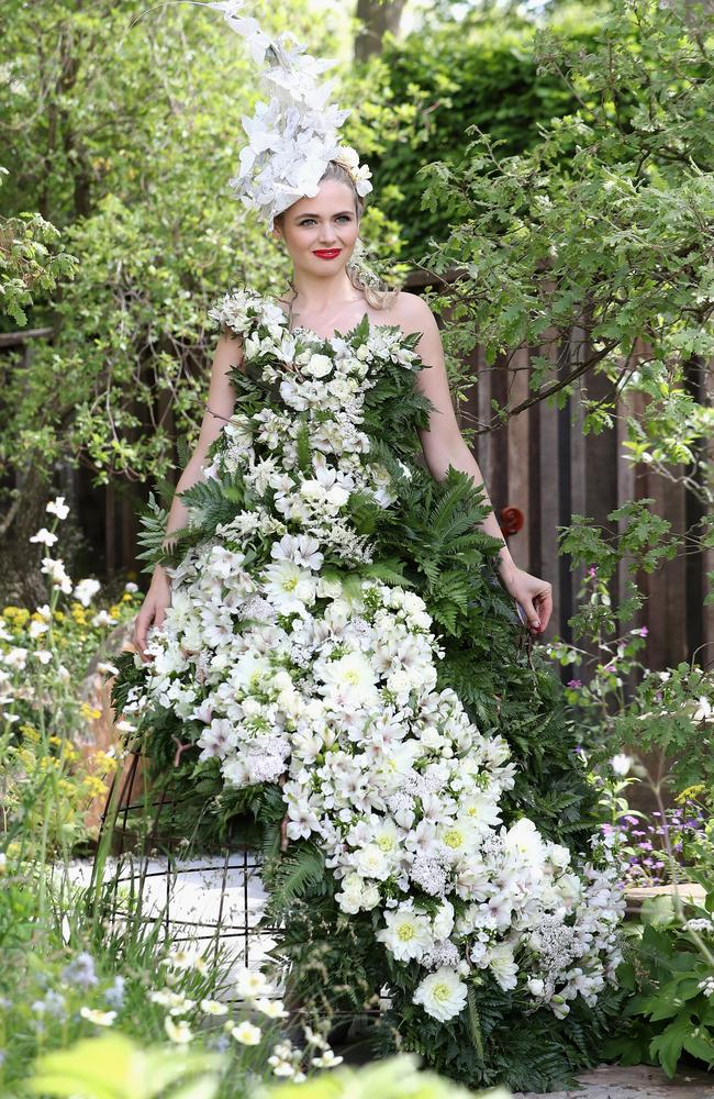 The show features innovative designs from floral-wear to gardens controlled by a phone app. Picture: Chris Jackson/Getty Images