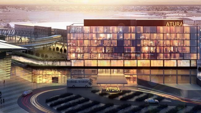 An artist's impression of the planned Adelaide Airport Hotel.