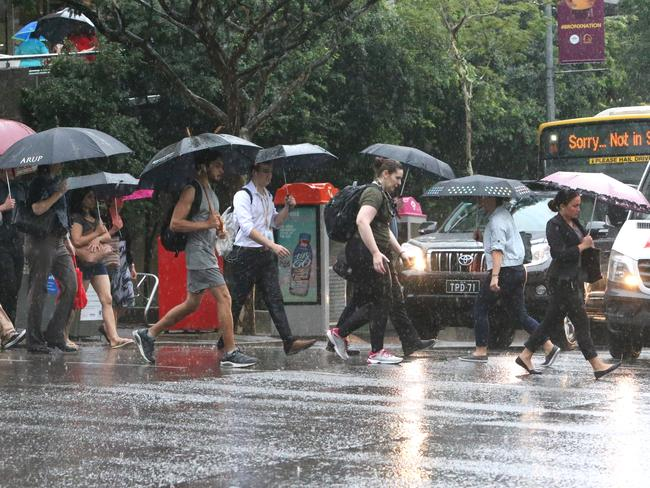 Commuters began making their way home from work as soon as they arrived in Brisbane's CBD.