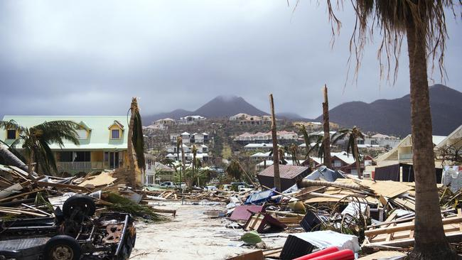 Some of the damage on the Caribbean island of Saint-Martin after Hurricane Irma. Picture: AFP
