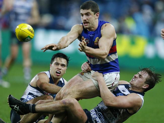 Tom Liberatore was at his contested football best in the wet. Picture: Michael Klein