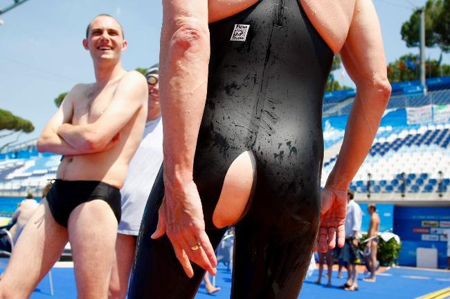 Swimmers Wardrobe Malfunction Daily Telegraph