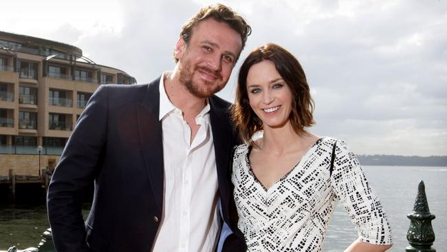 Emily Blunt and Jason Segal in Sydney for The Five Year Engagement.