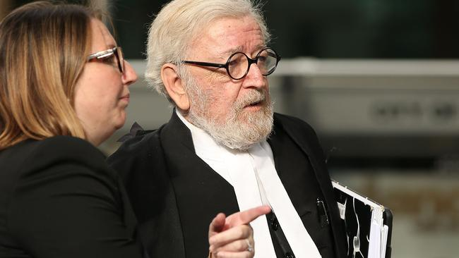 Pell's lawyer Robert Richter QC arrives at County Court on February 26, 2019 in Melbourne. Picture: Michael Dodge/Getty Images