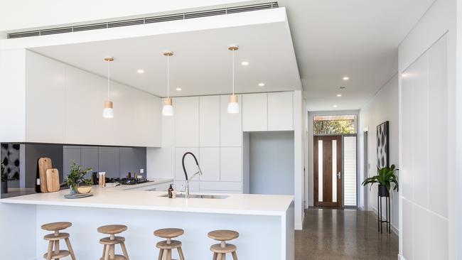 The chic modern kitchen.