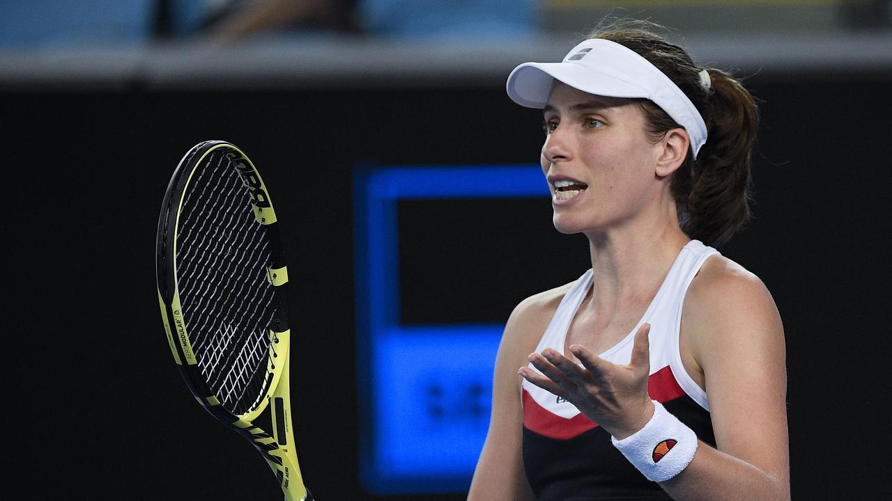 Britain's Johanna Konta and Garbine Muguruza contested the latest over women's Australian Open match