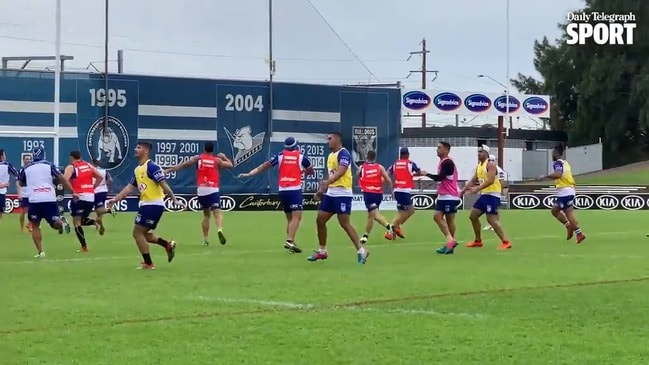 Kieran Foran returns to training at the Bulldogs