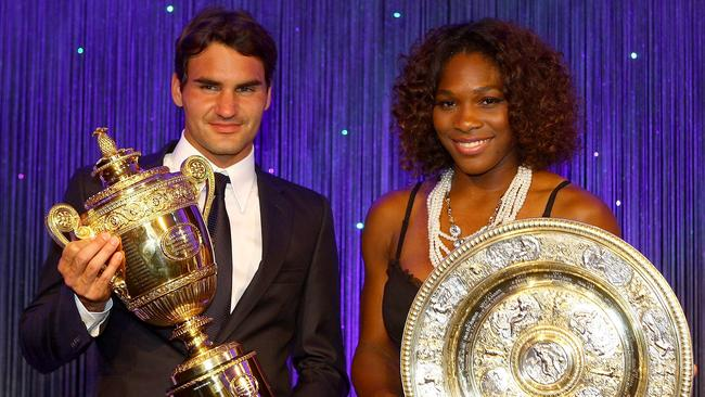 Roger Federer shares a long friendship with Serena Williams. Picture: Getty