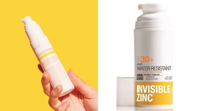 Dupe or copy? Image: Instagram @gotoskincare / Invisible Zinc