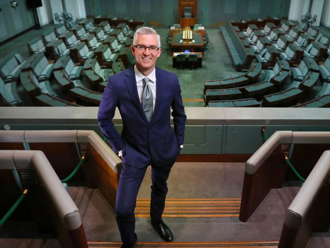 David Speers is one of the leading political anchors for Sky News which will begin broadcasting on FTA over the WIN network today. Picture: Kym Smith