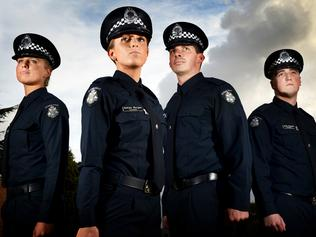 8674814d5e50 Newest police recruits graduate in the new Victoria Police uniform. (L-R)  Constable s Bec