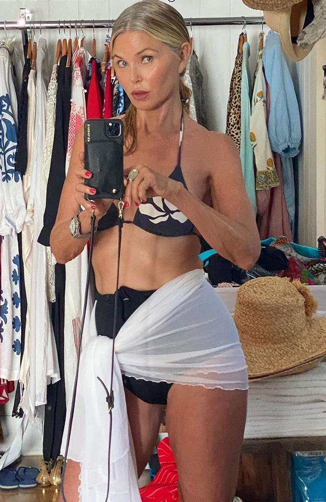 The 65-year-old flaunting her incredibly toned figure. Picture: ChristieBrinkley