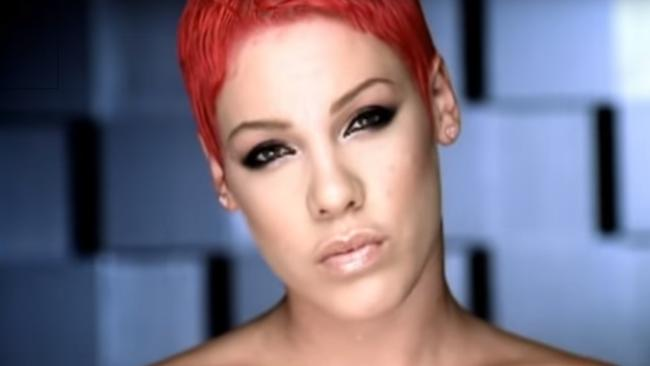 Pink was just 19 when she shot  <i>There You Go</i>.